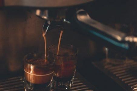 two cups under espresso maker