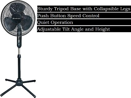 the best oscillating pedestal fan with foldable legs
